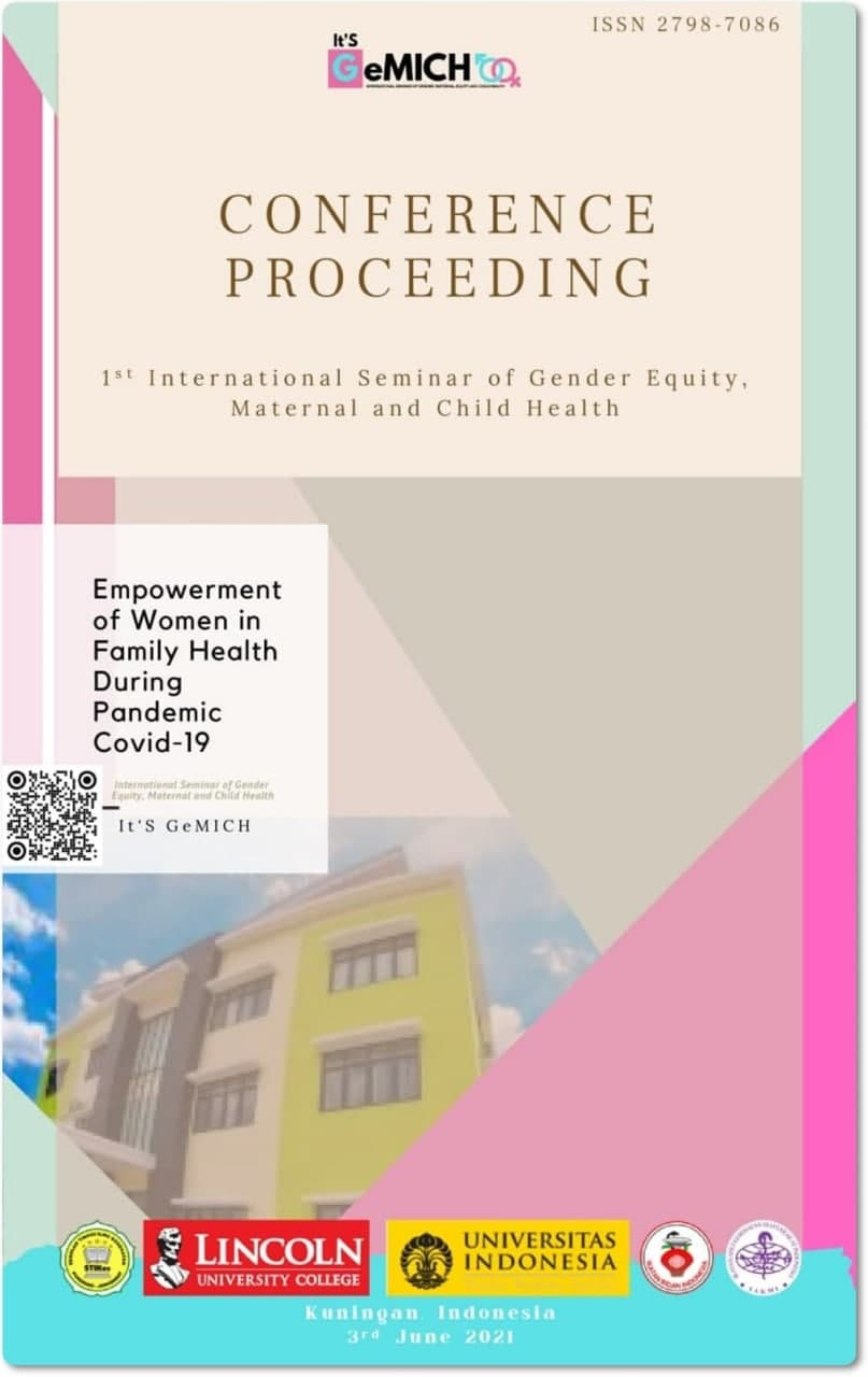 View Vol. 1 No. 1 (2021): International Seminar of Gender Equity Maternal and Child Health